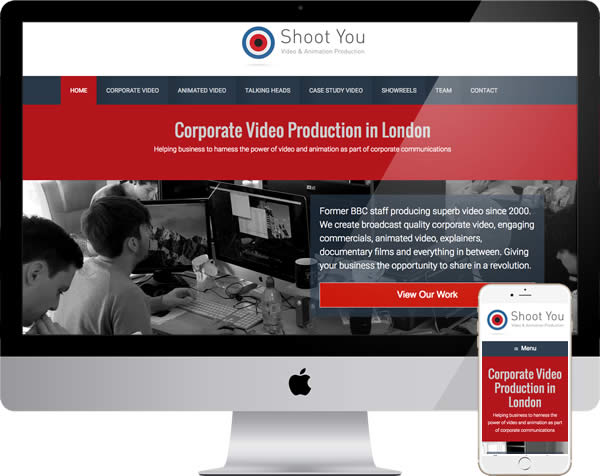 Video production company website