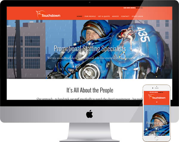 Promotional staff agency website