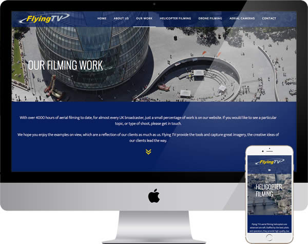 Aerial filming company website