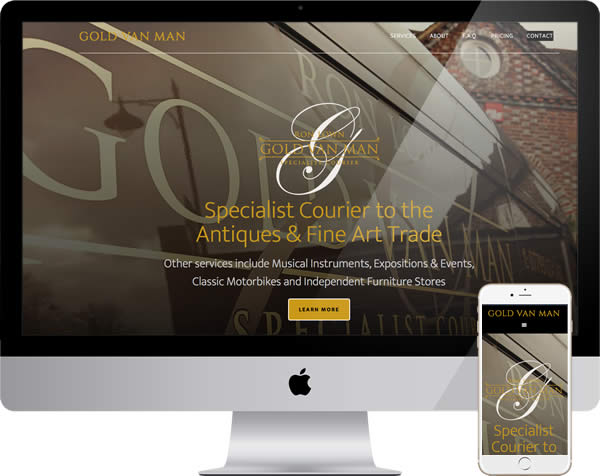 Antiques courier website