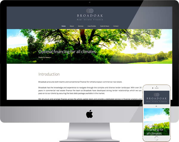 Broadoak Real Estate Finance Website